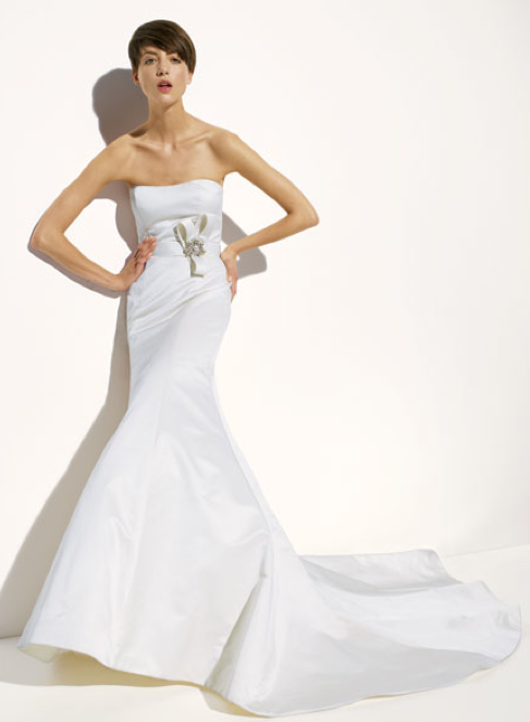 Amsale 'Nicole' Trumpet Wedding Dress - Amsale - Nearly Newlywed Bridal Boutique - 1