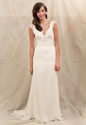 Ivy & Aster Anemone Silk V-neck Wedding Dress