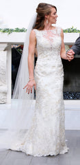Sophia Tolli 'Y21736' size 2 used wedding dress front view on model