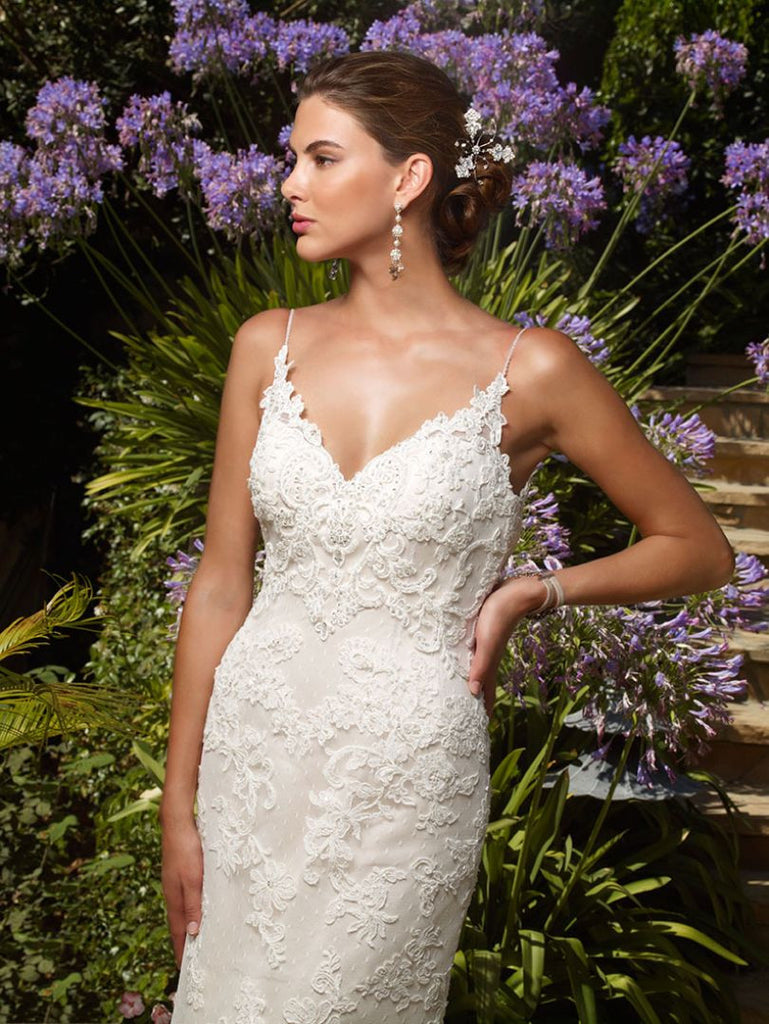 Casablanca 'Exotic Escape' size 14 new wedding dress front view on model