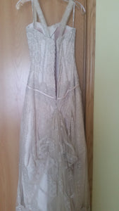 Maggie Sottero 'Gatsby' size 8 used wedding dress back view on hanger