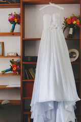 Maggie Sottero Sidney Chiffon Wedding Dress - Maggie Sottero - Nearly Newlywed Bridal Boutique - 1
