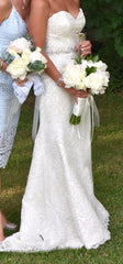 Modern Trousseau 'Demi' size 8 used wedding dress front view on bride