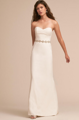 BHLDN 'Paige' size 6 new wedding dress front view on model