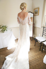 Maggie Sottero 'Verina' size 6 used wedding dress back view on bride