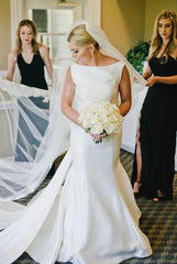 Sareh Nouri 'Naomi' size 8 used wedding dress front view on bride
