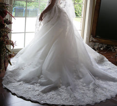 Zuhair Murad 'Summer Collection' size 6 used wedding dress back view on bride