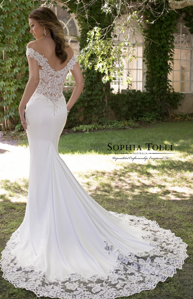 Sophia Tolli 'Y21820' size 10 new wedding dress back view on model