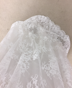 Lea Ann Belter 'Luna' size 14 new wedding dress close up of fabric