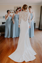 Load image into Gallery viewer, Theia 'Lauren' size 6 used wedding dress back view on bride
