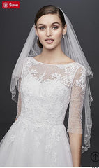 David's Bridal '3/4 Sleeve'