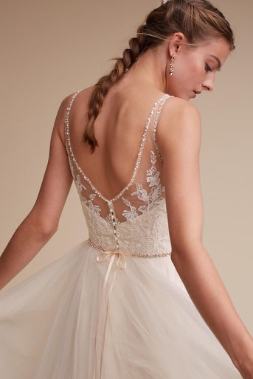 BHLDN 'Cassia' size 8 new wedding dress back view on model