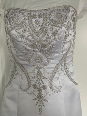 Casablanca '1852' size 16 used wedding dress front view on hanger