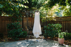 Maggie Sottero 'Marigold' size 12 used wedding dress front view on hanger