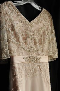 Casablanca 'Primrose' size 2 used wedding dress front view on hanger