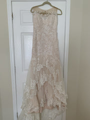 Essence Of Australia 'D1910CR' size 6 used wedding dress front view on hanger