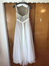Load image into Gallery viewer, Watters 'Penelope' size 6 used wedding dress back view on hanger