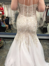 Load image into Gallery viewer, Mori Lee 'Madeline Garden' size 14 new wedding dress back view on bride