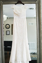 Load image into Gallery viewer, Amy Kuschel 'Babe' size 10 sample wedding dress front view on hanger