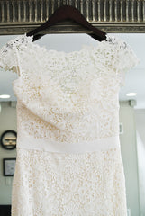 Amy Kuschel 'Babe' size 10 sample wedding dress back view on hanger