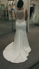 Galina 'SWg564' size 8 new wedding dress back view on bride