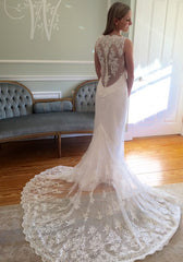 Romona Keveza 'L6139' size 2 new wedding dress back view on model