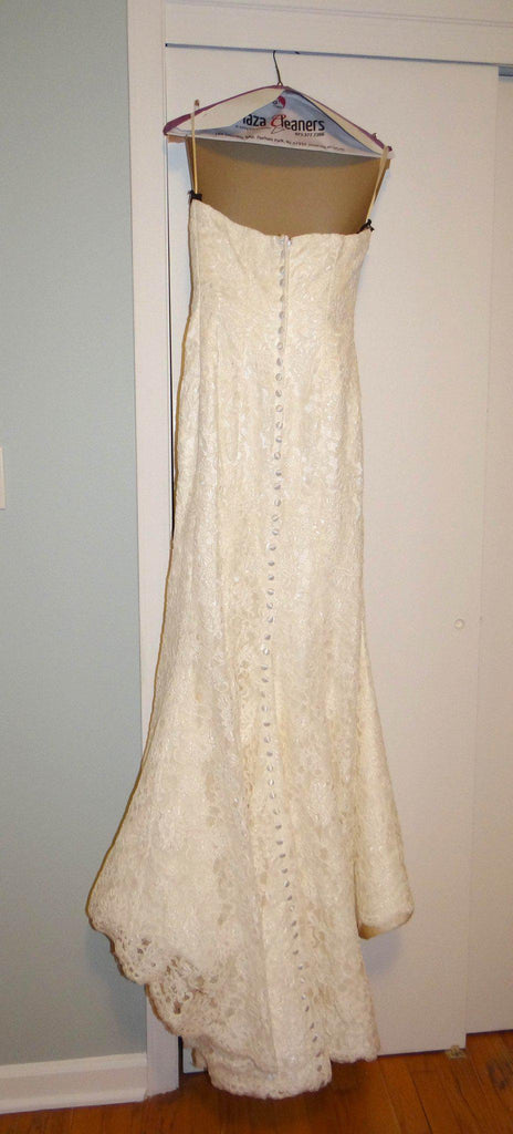 Michelle Roth Mermaid Alencon Lace Wedding Dress - Michelle Roth - Nearly Newlywed Bridal Boutique - 2