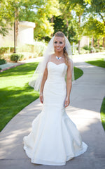 Kirstie Kelly 'Vienna' size 2 used wedding dress front view on bride