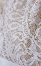 Load image into Gallery viewer, Carolina Herrera 'Claudette' size 12 used wedding dress view of fabric