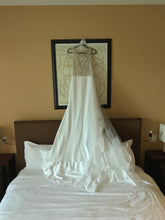 Load image into Gallery viewer, Liz Martinez 'Inga' size 4 used wedding dress back view on hanger