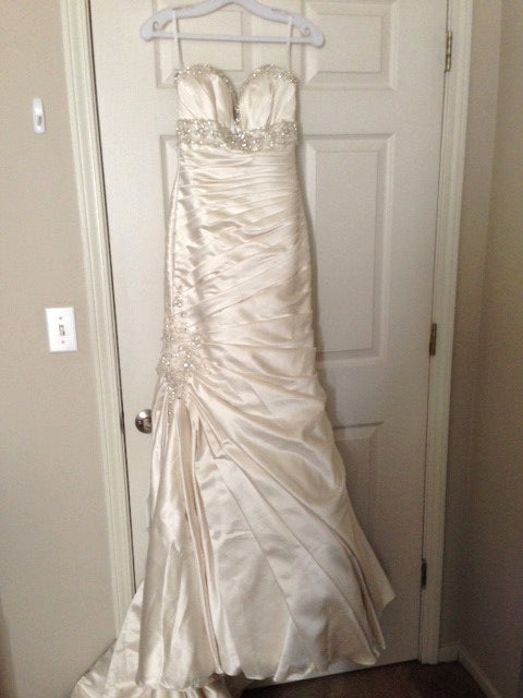 Mori Lee Madeline Gardner Strapless Wedding Dress - Mori Lee - Nearly Newlywed Bridal Boutique - 1