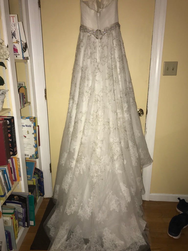 Casablanca '2136' size 10 new wedding dress back view on hanger