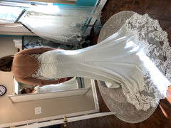 Stella York 'Sexy Beach' size 10 used wedding dress  back view on bride