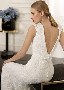 Cabotine 'Nerac' size 4 new wedding dress back view close up