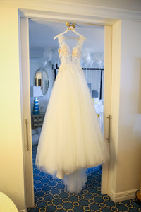 Pnina Tornai 'Love' size 6 used wedding dress front view on hanger