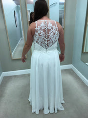 Lillian West '6515' size 12 used wedding dress back view on bride