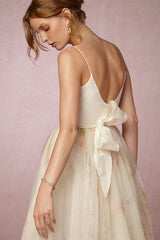 Elizabeth Fillmore 'Ballet' size 6 new wedding dress back view on model