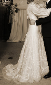 Vera Wang Devon Silk Organza Gown with Bolero - Vera Wang - Nearly Newlywed Bridal Boutique - 2