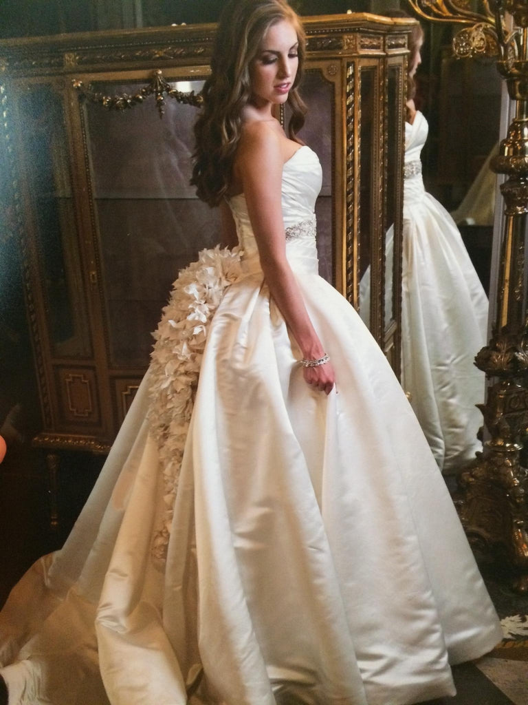 Pnina Tornai \'Satin Ball Gown\' size 4 used wedding dress - Nearly ...