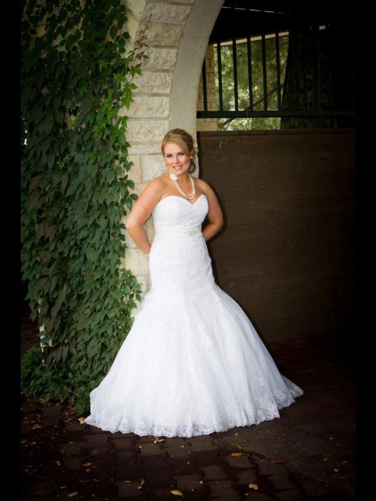 Mori Lee 1807 Strapless Mermaid Gown - Mori Lee - Nearly Newlywed Bridal Boutique - 3