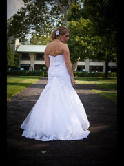 Mori Lee 1807 Strapless Mermaid Gown - Mori Lee - Nearly Newlywed Bridal Boutique - 4