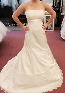 Monique Lhuillier Zuzanna Strapless Wedding Dress - Monique Lhuillier - Nearly Newlywed Bridal Boutique - 1