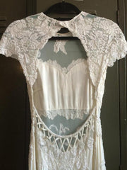 Elie Saab 'Vintage' size 2 used wedding dress back view on hanger
