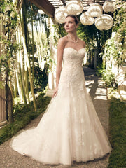Casablanca '2168' size 14 new wedding dress front view on model