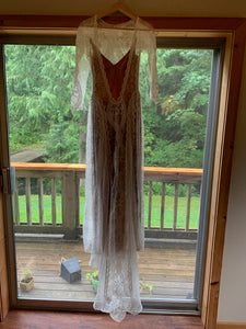 Grace Loves Lace 'Inca' size 2 used wedding dress front view on hanger
