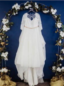 Oleg Cassini '8CWG731' wedding dress size-18 PREOWNED