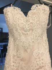 Casablanca '1975' size 4 used wedding dress front view on hanger