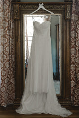 Sincerity '1-1639' size 12 used wedding dress front view on hanger