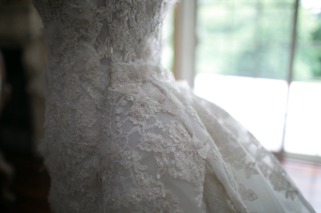 Zuhair Murad 'Summer Collection' size 6 used wedding dress close up of detail