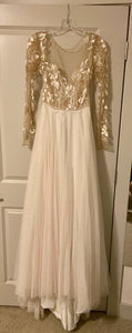 Hayley Paige 'Remmington' size 2 new wedding dress front view on hanger